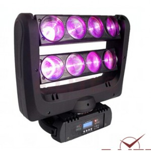8*10W RGBW/W LED Spider Beam Moving Head Stage Light Dm-029A